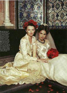 Flamenco wedding style. Source: UK 'Brides & Setting Up Home' magazine