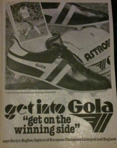 Get into Gola Football Uniforms, Football Boots, Vintage Football, Soccer, Retro, Classic, Sneakers, Sports, Advertising