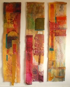"Saatchi Online Artist: Cas Holmes; Fabric, 2008, Assemblage / Collage ""Remnants from Not So Ordinary Lives"""