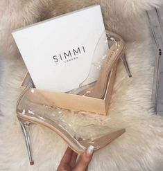 Competing head-to-head with EGO Shoes, Simmi Shoes aims to stay one high heel ahead of the rest. Founded in the London-based shoe brand offers Glass Heels, Heeled Boots, Shoe Boots, Shoes Heels Boots, Simmi Shoes, Mode Lookbook, Prom Shoes, Dance Shoes, Ring Verlobung