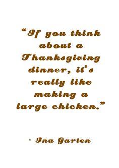 Ina Garten on Thanksgiving Dinner
