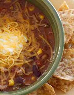 Turkey chili soup isperfect for quick weeknight meals.