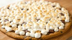 Blogger Angie McGowan of  Eclectic Recipes uses Pillsbury® Ready to Bake!™ refrigerated chocolate chip cookies to make a fun s'more pizza on the grill or in the oven.