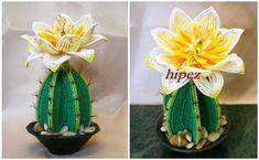 Beaded cactus flower