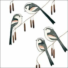 Tweeting lovely. Birds greeting #cards from Matt Sewell for Woodmansterne.