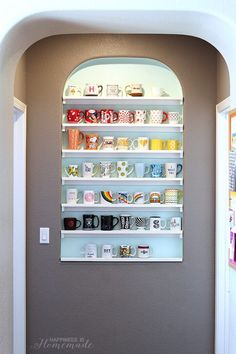 Awesome Ways To Organize Your Coffee Mug Storage | DIY Organization Ideas For A Clutter-Free Life