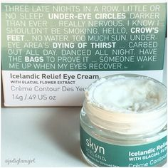 Icelandic Relief Eye Cream is da bomb! I have really dark under eye circles and puffy eyes usually because of allergies. This eye cream soothes and brightens my eyes. It feels like a soufflé too. Creamy and bouncy for light airy application. Eye Cream For Dark Circles, Dark Circles Under Eyes, Dark Under Eye, Eye Circles, Best Night Cream, Anti Aging Night Cream, Coconut Oil Eyelashes, Homemade Eye Cream, Under Eye Puffiness