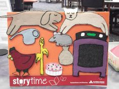 What Happens In Storytime...: Flannel Friday - The Little Red Hen