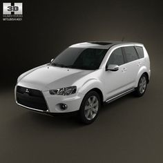 Mitsubishi Outlander GT 2010 3d model from humster3d.com. Price: $75