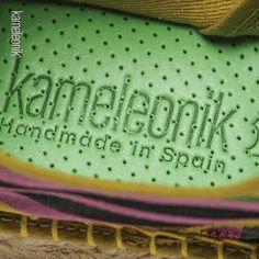 Hecho a mano en España. Handmade in Spain. #Espadrilles #Kamespadrilles #Alpargatas #Plantilla #Insole #MadeinSpain #HechoenEspana #HandmadeinSpain #Kameleonik