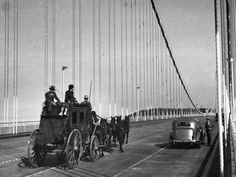 TBT: Our stagecoach helped celebrate the Oakland-San Francisco Bay Bridge…