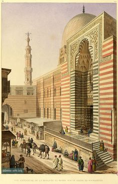 Exterior, facade and souk, Complex of Sultan al-Muayyad Shaykh, Architecture arabe ,1818-1826