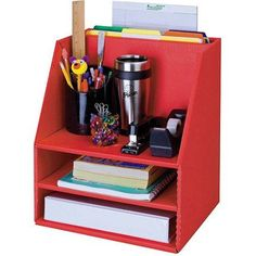Classroom Keepers Desk Organizer, Red