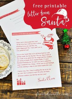 Free Printable Letter from Santa Editable Santa Letters -- Kids Christmas ideas