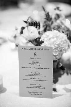 The Drake Hotel menu cards on champagne sheen paper / Photo from Annie & Joe- Wedding collection by Kina Wicks Prints