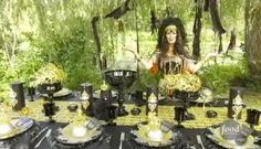 Behold!  Sandra Lee's Halloween Tablescape of Yore!  #halloween_tablescape  #halloween  #sandra_lee