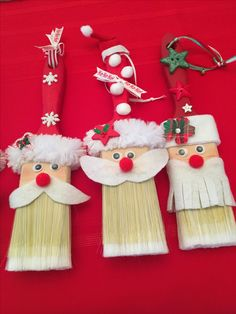 Pinterest Christmas Crafts, Handmade Christmas Crafts, Santa Crafts, Christmas Craft Projects, Diy Christmas Ornaments, Holiday Crafts, Christmas Tree Decorations For Kids, Christmas Bazaar Ideas, Noel Christmas