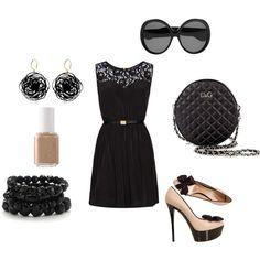 black & cream- for when I'm feeling classy! ;)