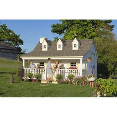 Little Cottage 11 x 12 Pennfield Cottage Wood Playhouse - Outdoor Playhouses at Play Houses Cedar Playhouse, Kids Indoor Playhouse, Playhouse Kits, Backyard Playhouse, Build A Playhouse, Outdoor Playhouses, Girls Playhouse, Childrens Playhouse, Cottage Kits