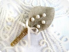 Hey, I found this really awesome Etsy listing at https://www.etsy.com/listing/104633764/burlap-grooms-boutonniere-for-wedding