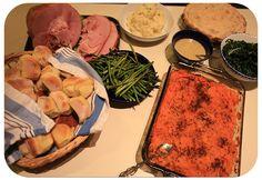 Thanksgiving Dinner Menu starring a Petit Jean Ham