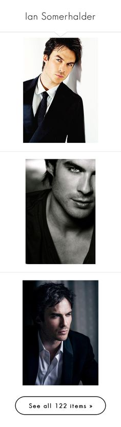 """Ian Somerhalder"" by artemisa-538 ❤ liked on Polyvore featuring ian somerhalder, backgrounds, men, people, the vampire diaries, vampire diaries, pictures, boys, guys and pics"