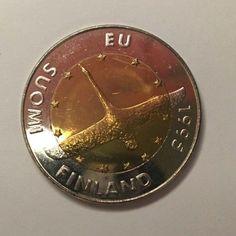 Suomi Finland 10 Markkaa 1995 Bi-metallic European Unity Swan 10 Mark Coin