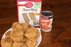 two ingredient pumpkin muffins