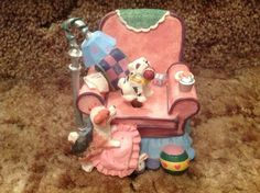"""Collectible Berkeley Designs """"Dogs On Chair"""" Musical """"Hopelessly Devoted to You"""""""