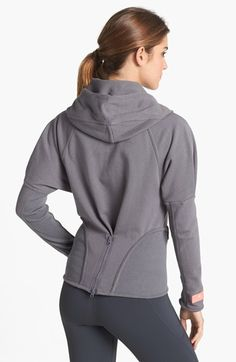 adidas by Stella McCartney 'Run' Full Zip Hoodie Stella Mccartney Adidas, Sport Fashion, Fitness Fashion, Cute Workout Outfits, Beauty And Fashion, Cool Hoodies, Sport Casual, Full Zip Hoodie, Sport Wear