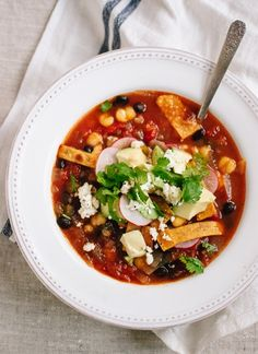 Tortilla Soup in the winter has always been one of my  favorite soups. Keeps you warm on the inside.