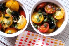 Baked Feta with Tomatoes, Olives and Fresh Herbs - simply fresh dinners