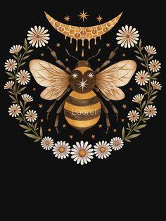 """Flitterwochen"" T-Shirt von Laorel Gravure Illustration, Illustration Art, Illustrations, Skull Tatto, Arte Quilling, Wal Art, Bees Knees, Revolver, Botanical Illustration"