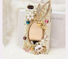 iPhone 4 Case, iPhone 4s Case, iPhone 5 Case, Case iphone 4, Bling iphone 4 case, cute iphone 5 case, bling iphone 4 case fairy mirror by iPhone5CaseBling, $20.98
