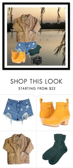"""""""The Lake"""" by bethani-marie ❤ liked on Polyvore featuring Boohoo, Swedish Hasbeens, Topshop and Brora"""