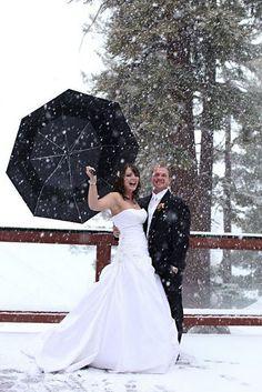 Winter wedding.    No way Jose!!!!!   Put a coat on that bride!