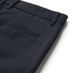 <b>EXCLUSIVE AT MR PORTER.COM.</b> <a href='http://www.mrporter.com/mens/Designers/Mr_P'>Mr P.</a>'s trousers are impeccably tailored from a wool and cotton-blend Cavalry twill - a smooth yet hard-wearing worsted fabric originally used for riding breeches, hence its association with the British Cavalry. This pair has pressed creases to define the tapered shape and is discreetly finished with horn buttons.