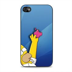 Homer Simpson Stealing Apple Logo iPhone 4, 4s Case