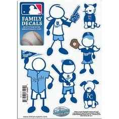 Kansas City Royals MLB Family Car Decal Set (Small)