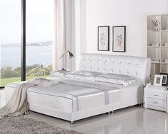 Bosso Modern Leather Bed Frame Mod Furniture, Modern Bedroom Decor, Modern Bedroom Furniture, Leather Furniture, Leather Bed Frame, Thought For Today, Mattress, Thoughts, Beds