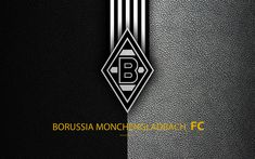 Download wallpapers Borussia Monchengladbach FC, 4K, German football club, Bundesliga, leather texture, emblem, logo, M?nchengladbach, Germany, German Football Championships