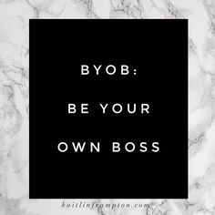 When you are your own boss EVERY day is as great as Friday! Being your own boss also means you have to do.. ...ALL THE WORK ...ALL THE TIME And you likely work WAY MORE hours than you would at a job under a boss. . But you're FREE. This is MY kind of BYOB! . Like if you agree! Hope you're having a happy Friday!