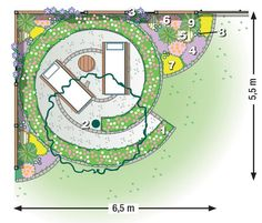 Garten Planting plan for a garden corner to relax bridal jewelry for the radiant bride Finding the p Garden Care, Purple Lily, Planting Plan, Corner Garden, Different Plants, Plantation, Clematis, Flower Beds, Geraniums