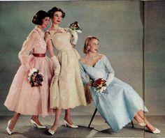 1957 Brigitte - Hochzeit - Mode für Brautjungfern