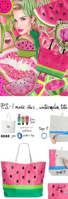 hey say variety is the spice of life, and this little slice will do just that for your bag collection. Inspired by Kate Spade's stylish take on summer fan-favorite fruit, the juicy colors of this watermelon tote and the fun you'll have painting it make for a DIY that is TOTES amaze.