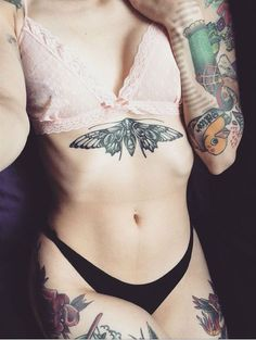 Traditional Moth Tattoo for Girl