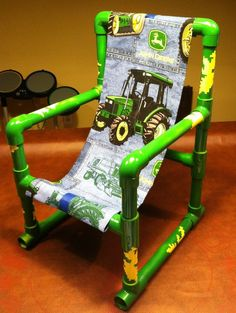 34 super clever ways to turn pvc pipes into cool diy projects 17 Pvc Pipe Crafts, Pvc Pipe Projects, Diy Projects Cans, Cool Diy Projects, Welding Projects, John Deere Crafts, John Deere Bedroom, John Deere Kids, Pvc Chair
