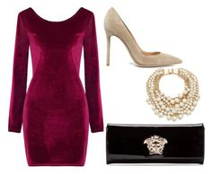 """""""Untitled #752"""" by meryem-mess ❤ liked on Polyvore featuring Gianvito Rossi, Kate Spade and Versace"""