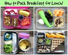 Let's face it - most kids love breakfast food any time of day! So why not send them off to school with breakfast for lunch? I'm excited to share some easy ideas