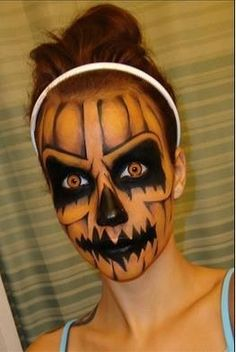 25 Makeup and Nail Looks for Halloween {The Weekly Round UP} – This Silly Girl's Life Loading. 25 Makeup and Nail Looks for Halloween {The Weekly Round UP} – This Silly Girl's Life Cool Halloween Makeup, Scary Makeup, Halloween Makeup Looks, Halloween Kostüm, Halloween Pumpkins, Horror Makeup, Awesome Makeup, Halloween Pumpkin Makeup, Halloween Series